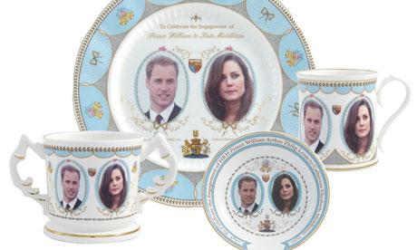 La vaisselle officielle du Mariage de Kate et William